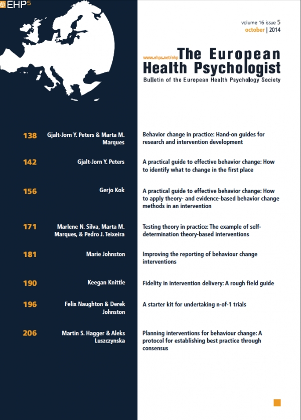 The European Health Psychologist