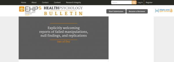Marta Marques as Executive Editor of the new open-access EHPS journal Health Psychology Bulletin