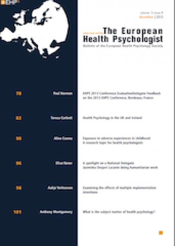 Marta Marques appointed co-editor of The European Health Psychology (EHP)