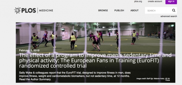 Lifestyle change programmes run for fans by football clubs score health goals