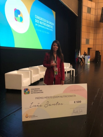 Inês Santos wins Young Nutritionist Merit Award 2017